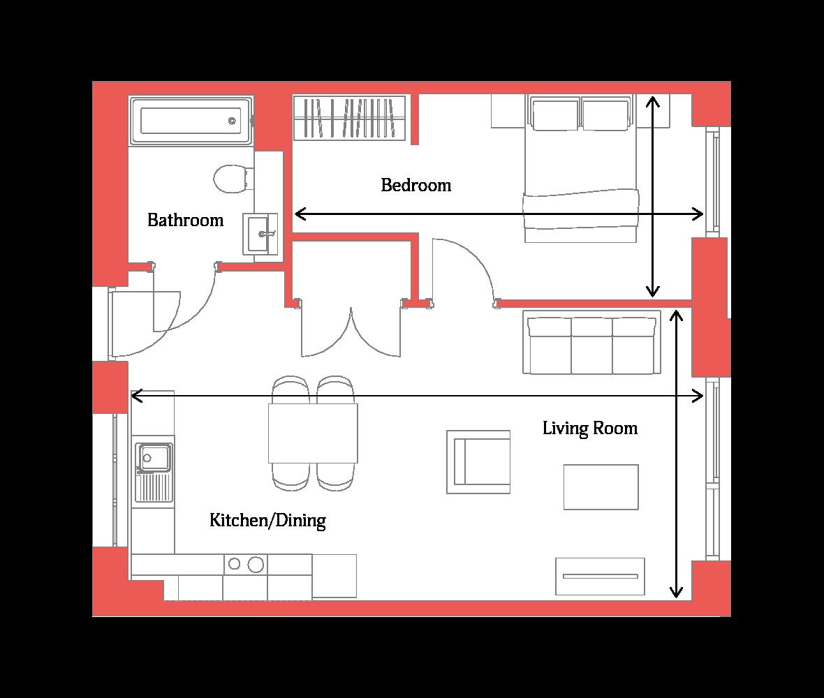 Type 1A floor plan